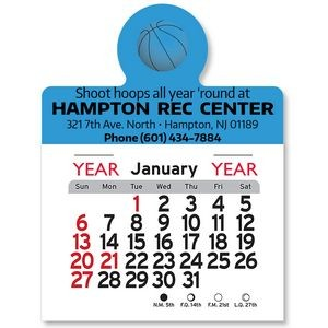 BasketBall Peel-N-Stick� Multi-Use Calendar