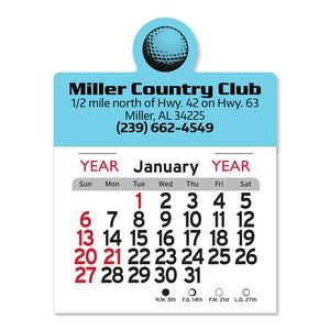 Golf Ball Peel-N-Stick� Multi-Use Calendar