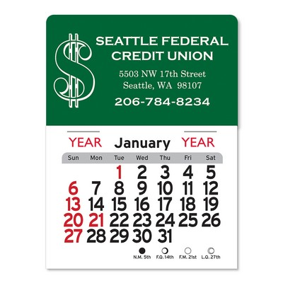 Dollars Peel-N-Stick® Multi-Use Calendar