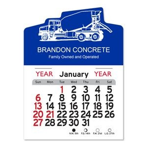 Cement Truck Peel-N-Stick� Multi-Use Calendar