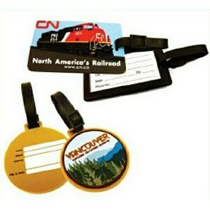 Soft Rubber 2-D Luggage Tag w/Screen Back