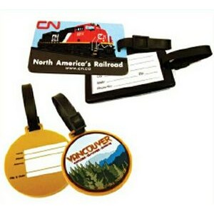 Soft Rubber 2-D Luggage Tag w/Back Holder